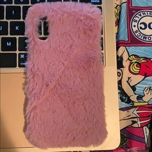 Heyday Pink Fuzzy IPhone X Case